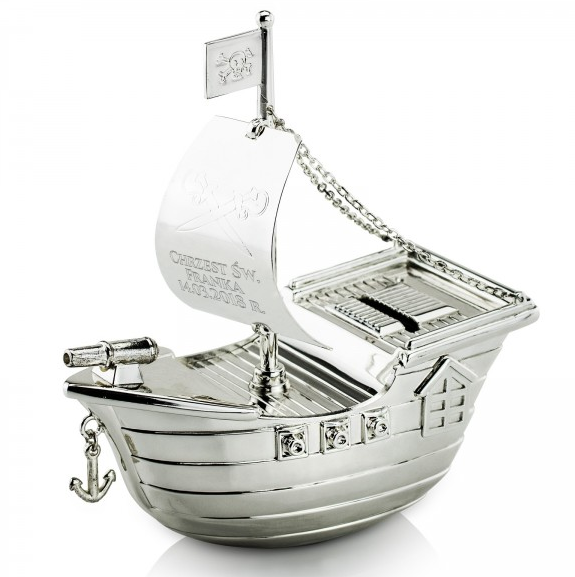 skarbonka statek na chrzest