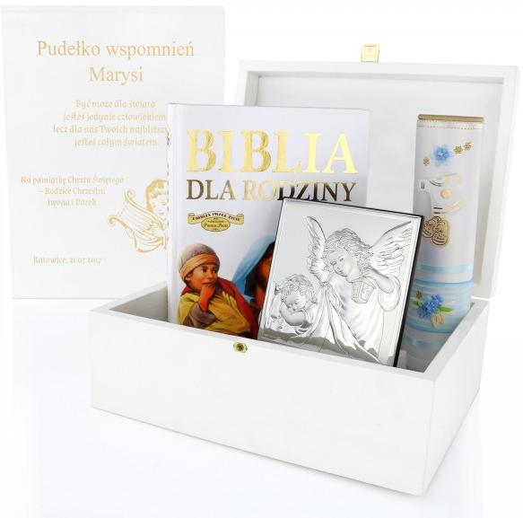 zestaw upominkowy jako prezent na chrzciny dla dziewczynki od dziadków