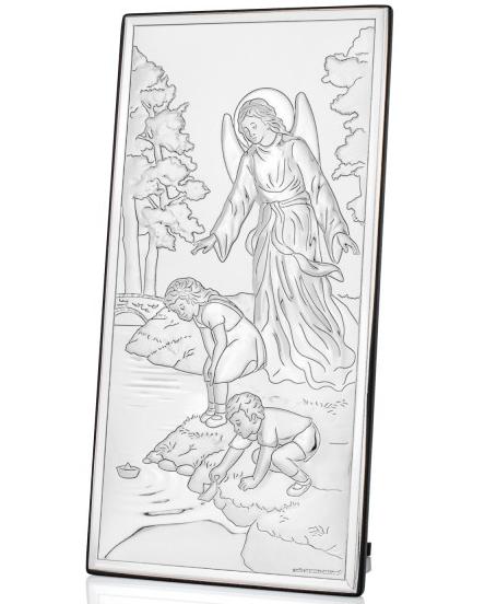 obrazek płaskorzeźba na chrzciny