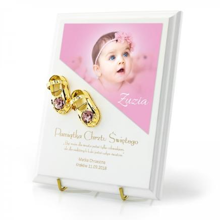 obrazek na chrzciny prezent na chrzciny dla dziewczynki od matki chrzestnej